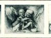 Triptychon: Lethargie, Geborgenheit, Geschundene, Radierung