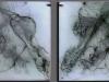 VII, 7 Acrylplatten, graviert, 50 x 50 cm