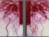 Engel, 5 Acrylplatten, graviert, 50 x 50 cm